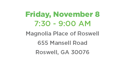 Coffee Connect Friday, November 8 at Magnolia Place