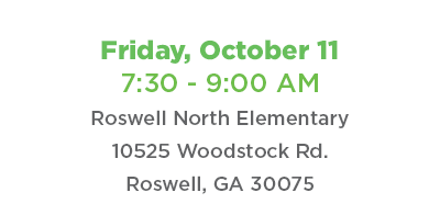 Coffee Connect Friday, October 11 at Roswell North Elementary