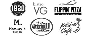 Bistro VG, Flippin' Pizza, Marlow's Tavern, The Mill Kitchen and Bar, Plum Cafe
