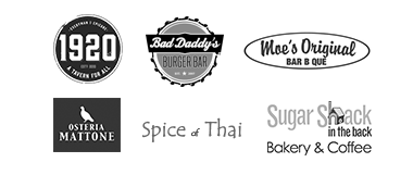 1920 Taver, Bad Daddy's Burger Bar, Moe's Original BBQ, Table & Main, Spice of Thai and Sugar Shack in the Bac