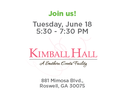 Join us for Roswell Connect - Tuesday, June 18 from 5:30 - 7:30 p.m. at Kimball Hall