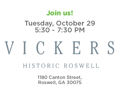 Join us for Roswell Connect - Tuesday, October 27 from 5:30-7:30 p.m. at Vickers