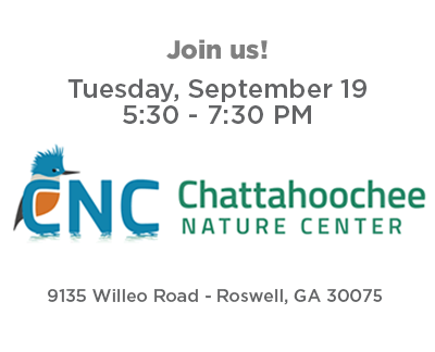 Join us - Tuesday, September 19 from 5:30 to 7:30 PM at Chattahoochee Nature Center