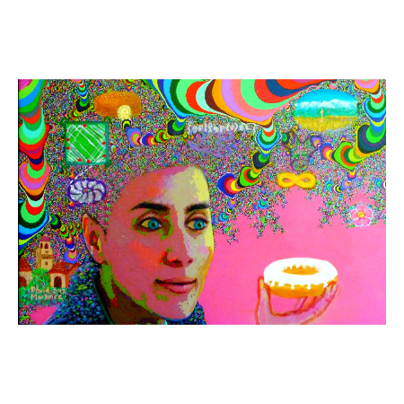 Maryam Mirzakhani by David B. Martínez