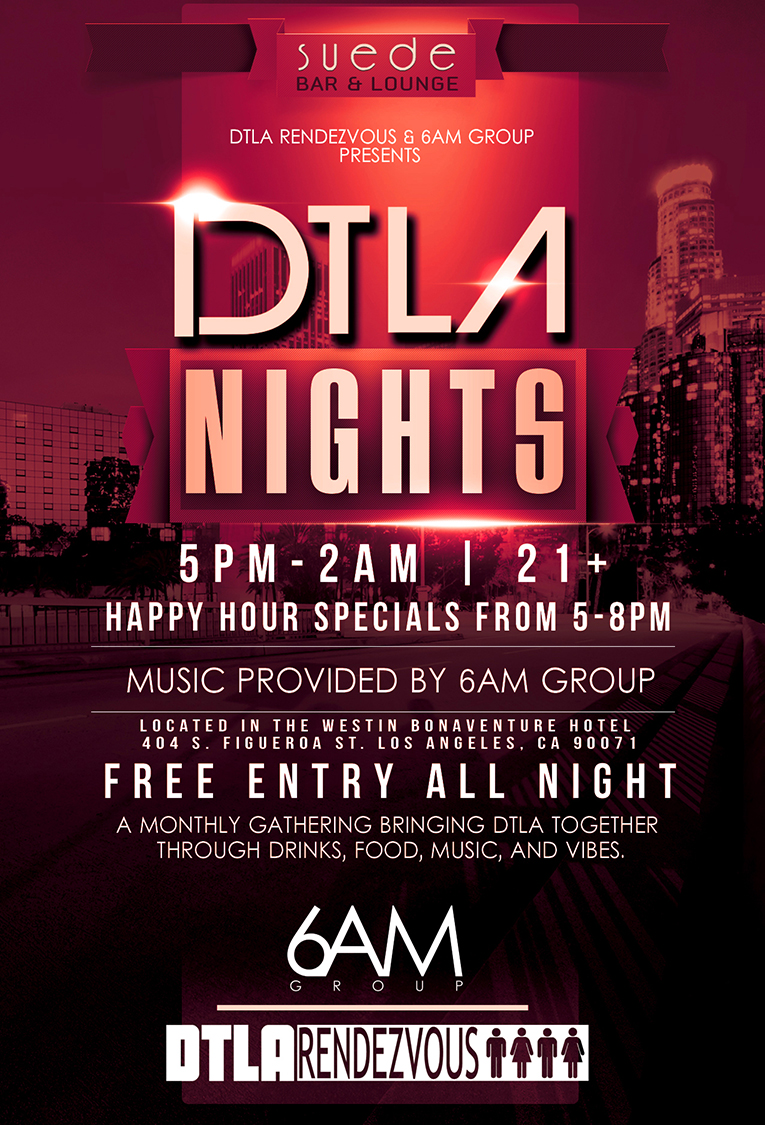 DTLA Nights @ Suede Bar & Lounge