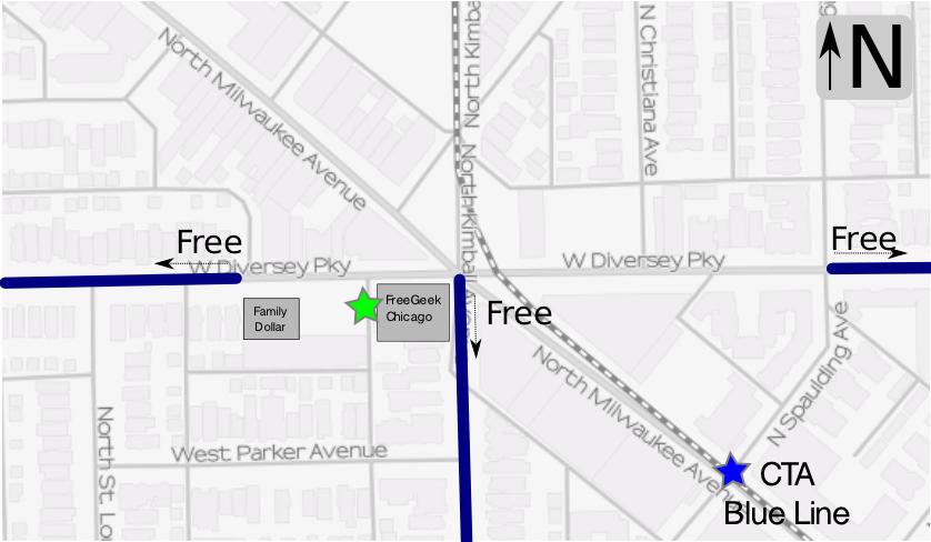 free street parking