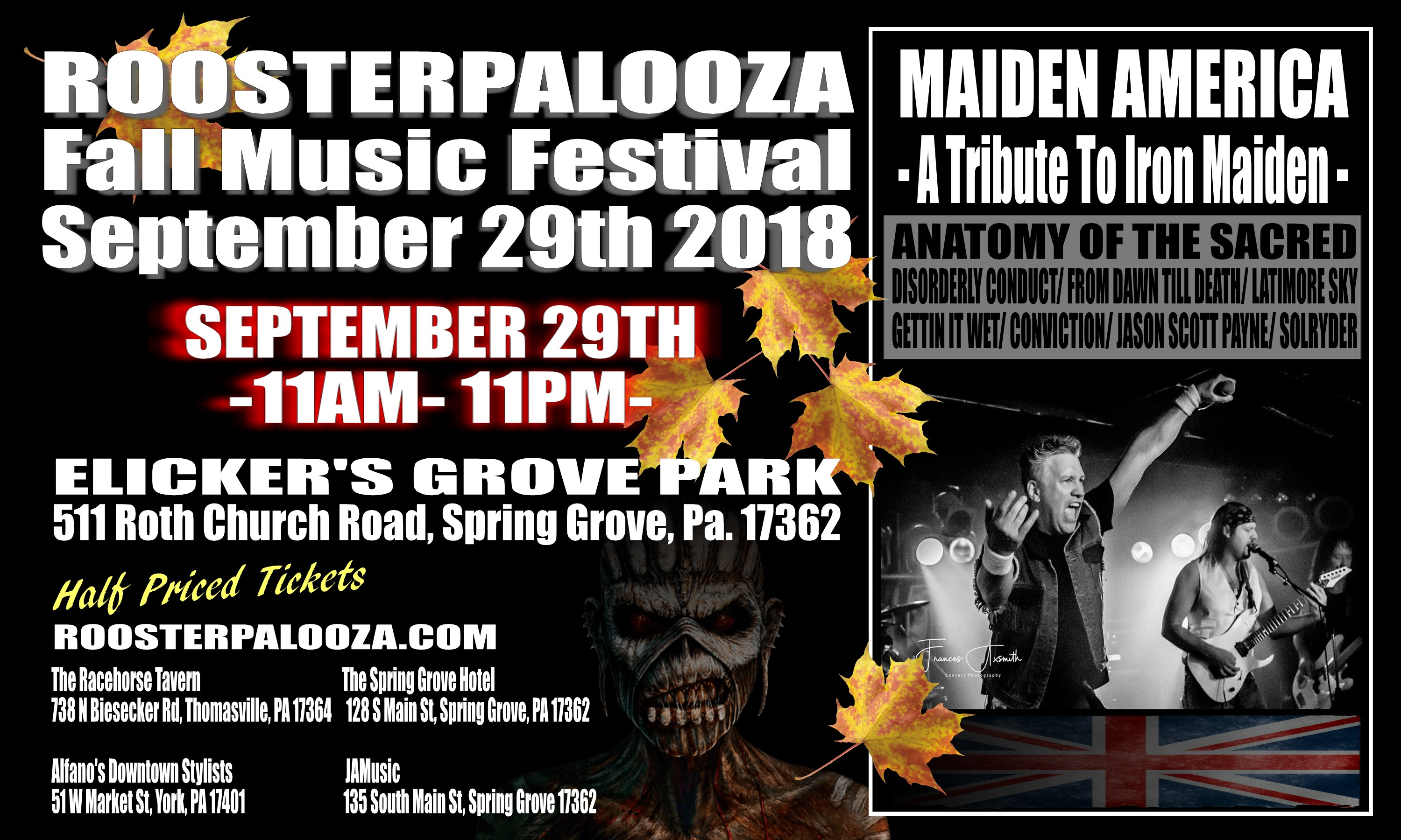 ROOSTERPALOOZA Fall Music Festival 2018 Tickets, Sat, Sep 29, 2018 ...