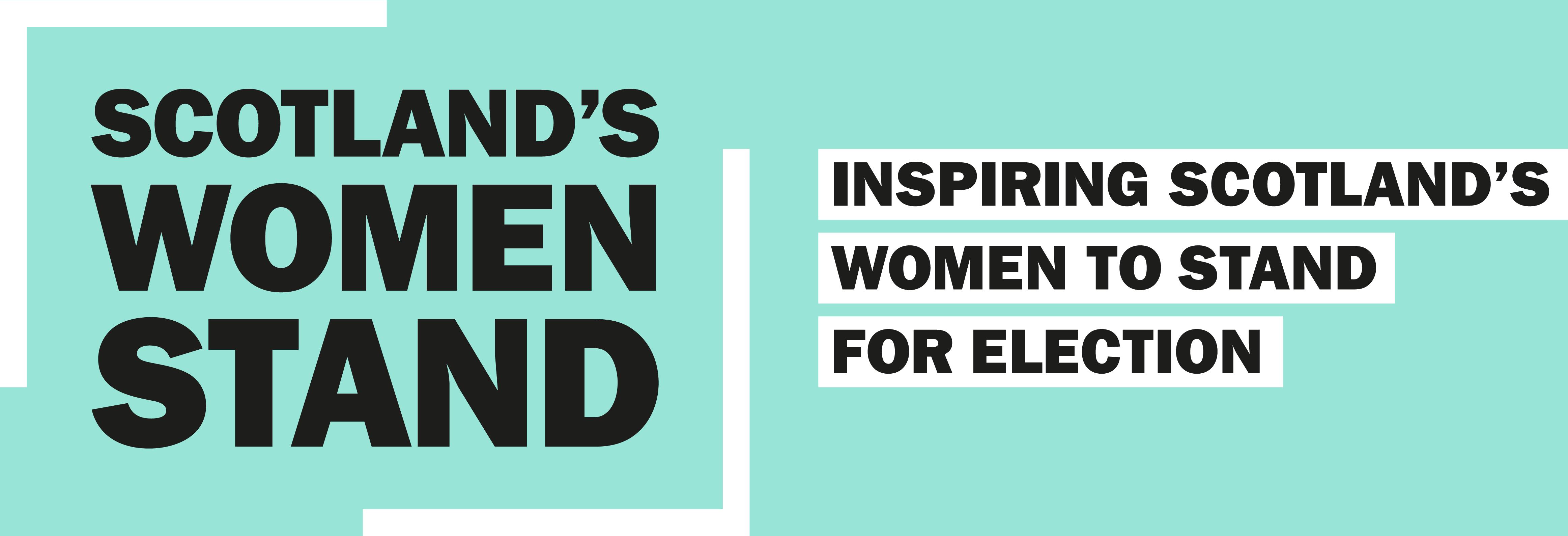 Scotland's Women Stand Logo - Inspiring Women