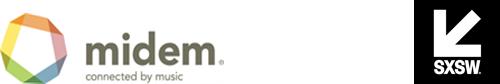 SXSW and Midem logos