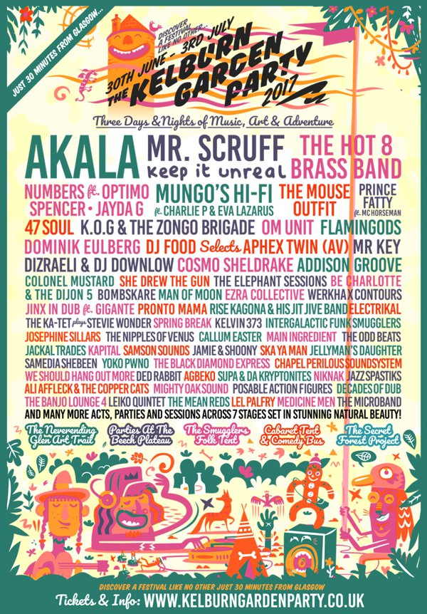 Kelburn Garden Party 2017 - Flyer
