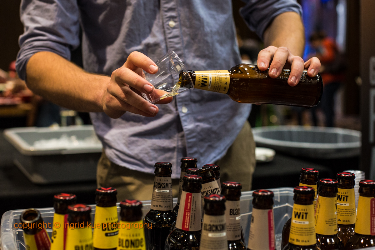 Village Brewery pours craft beer at Food for Thought 2015 event