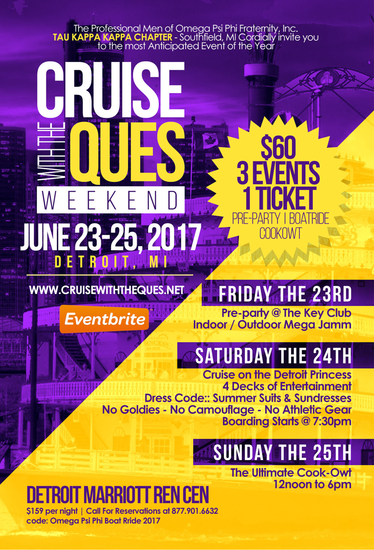 Cruise with the Ques 2017 - Detroit Tickets, Fri, Jun 23, 2017 at ...