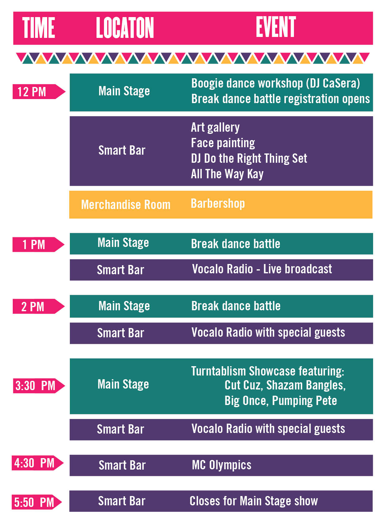 Daytime Schedule