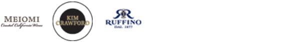 Meiomi - Kim Crawford - Ruffino logos