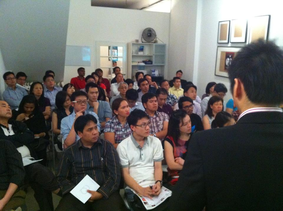 Matthew Chew, sharing on his insights on CPF