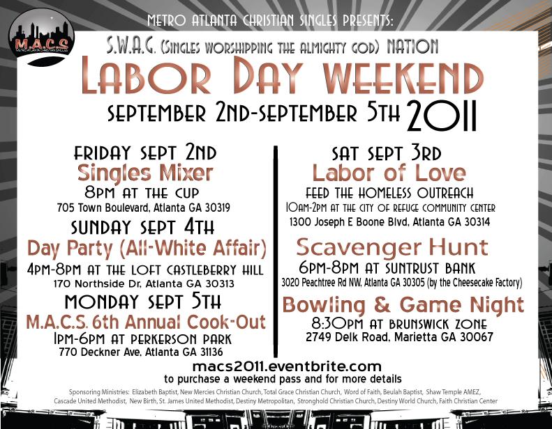 Singles ministry labor day Gospel Gathering, FBC Allen