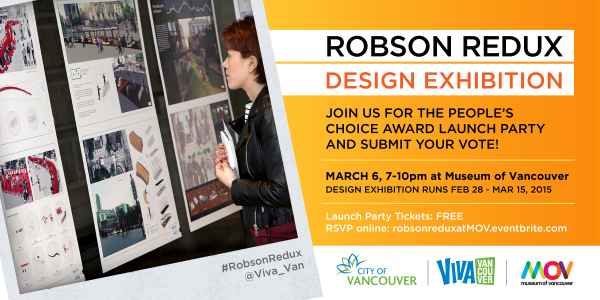 Robson Redux Design Exhibition Digital Flyer