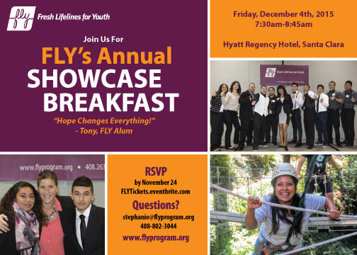 Join us for FLY's Annual Showcase Breakfast on Dec. 4, 2015
