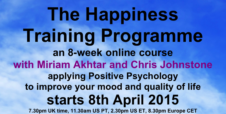 Happiness Training Programme flyer