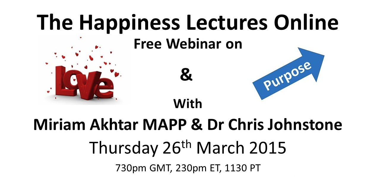 Happiness Lectures webinar March 2015
