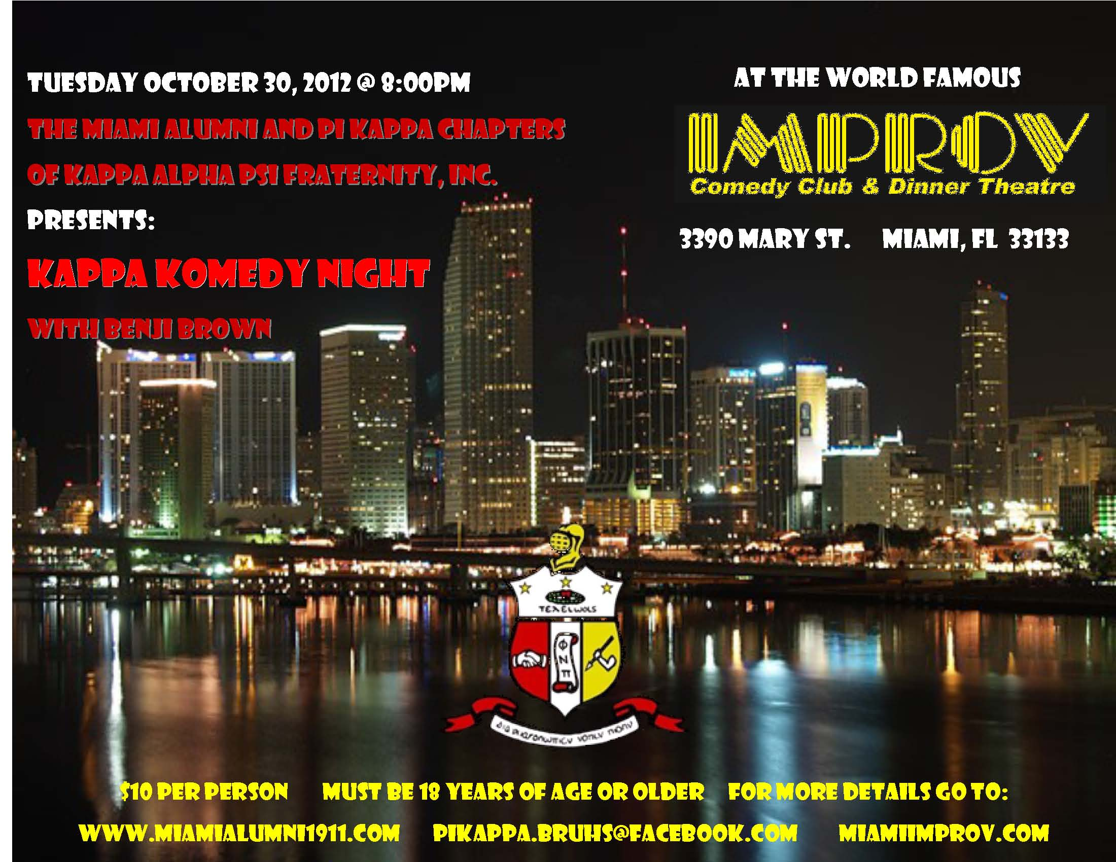 Miami Alumni Kappa Alpha Psi Komedy Night