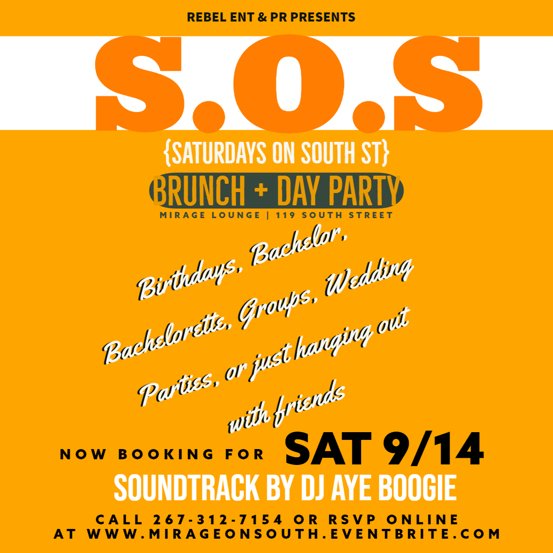 Rsvp free before 4pm w/ our $40 Endless Mimosas Special Including 1 Entree Item!  EAT * DRINK * DANCE * HOOKAH