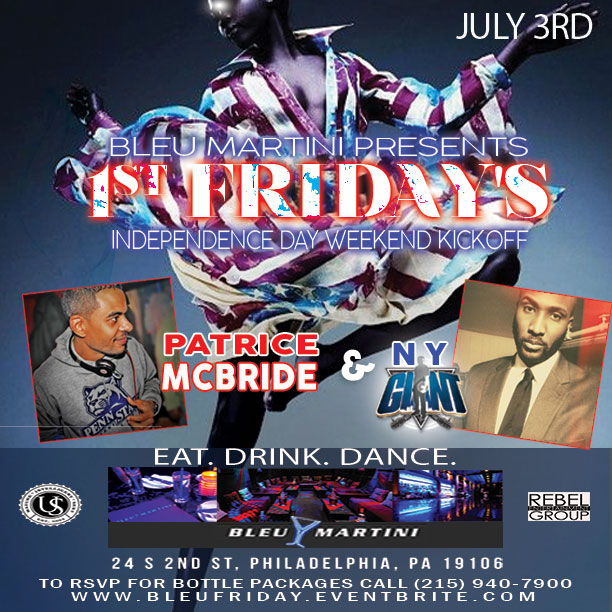 FIRST FRIDAYS ARE BACK AT BLEU MARTINI