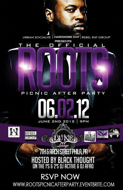THE OFFICIAL ROOTS PICNIC AFTERPARTY AT LUXE LOUNGE