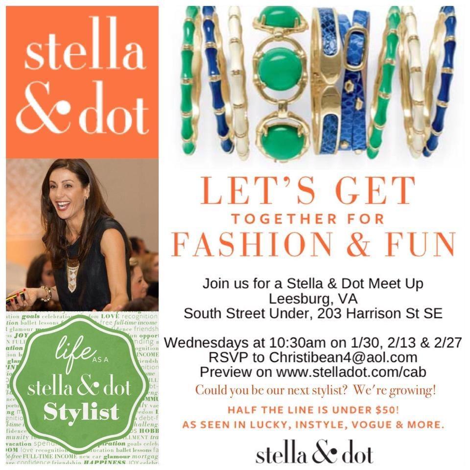 Stella dot meet up leesburg va tickets wed jan 30 for Stella and dot san francisco