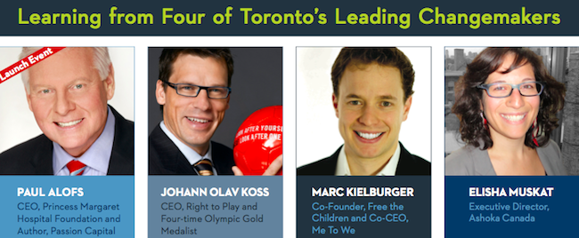 Join us for the Next Speaker Series Event: Marc Kielburger, Co-Founder, Free the Children and Co-CEO, Me to We, April 4th, 6:30 - 8:00 p.m., Wolfond Centre, 36 Harbord St.