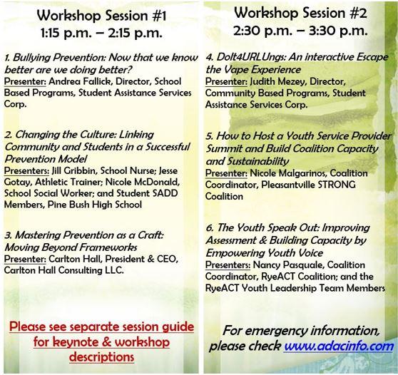 May 2019 Workshop List
