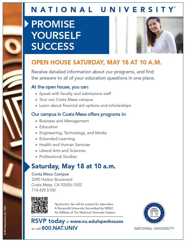 National University Costa Mesa Open House