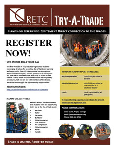 Try-A-Trade Flyer