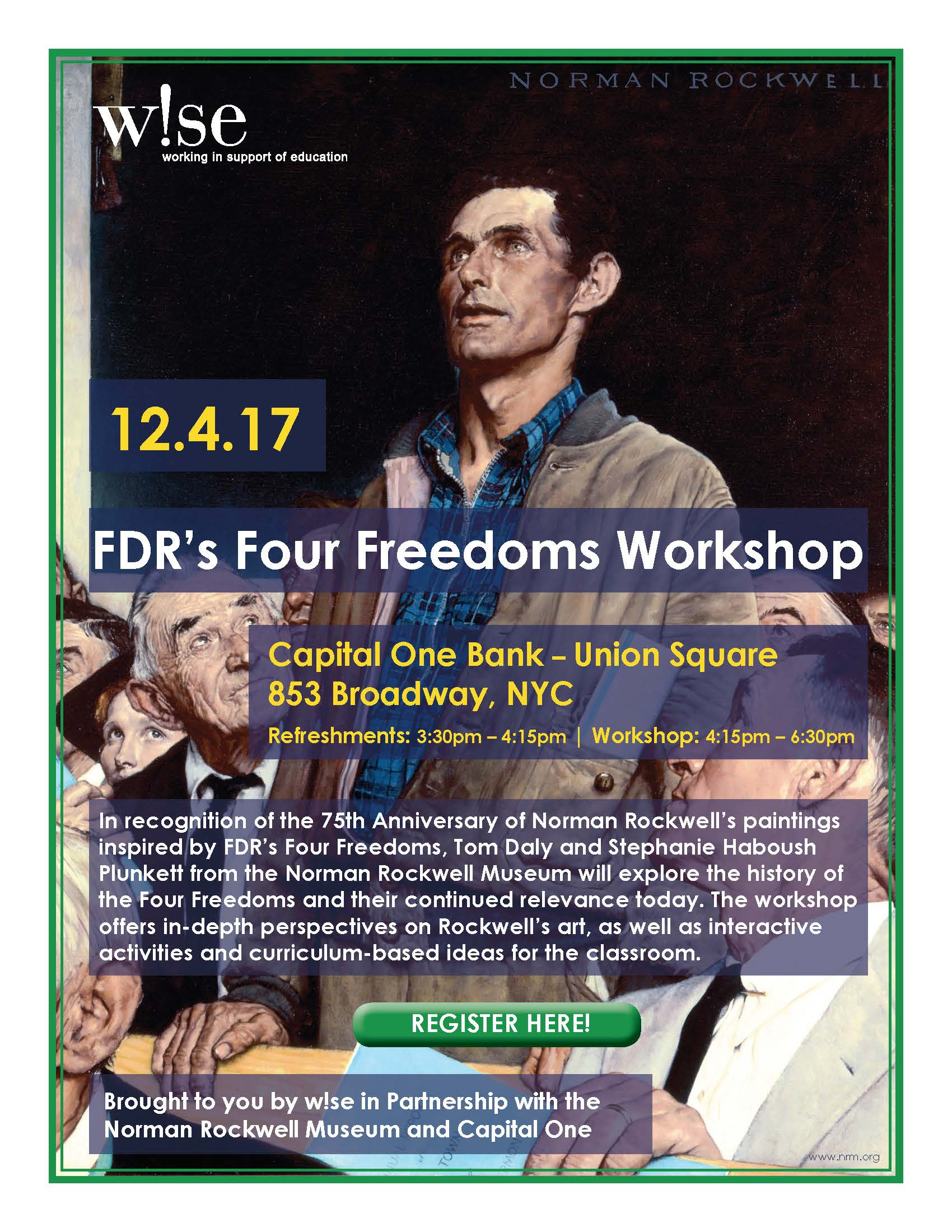 FDR's 4 Freedoms Workshop