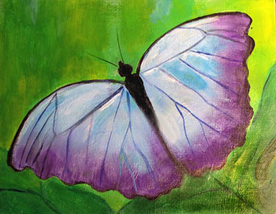 Painting of a lovely butterfly