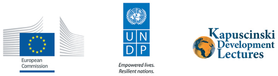 Logos: European Commission, United Nations Development Programme and Kapuscinski Development Lectures