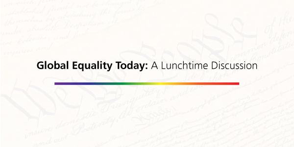 Global Equality Today A Lunchtime Discussion