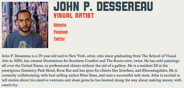 Opening reception for exhibiting artist john p dessereau for The yard space to work