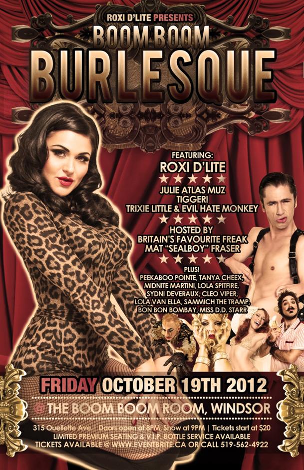 Boom Boom Burlesque Show Poster