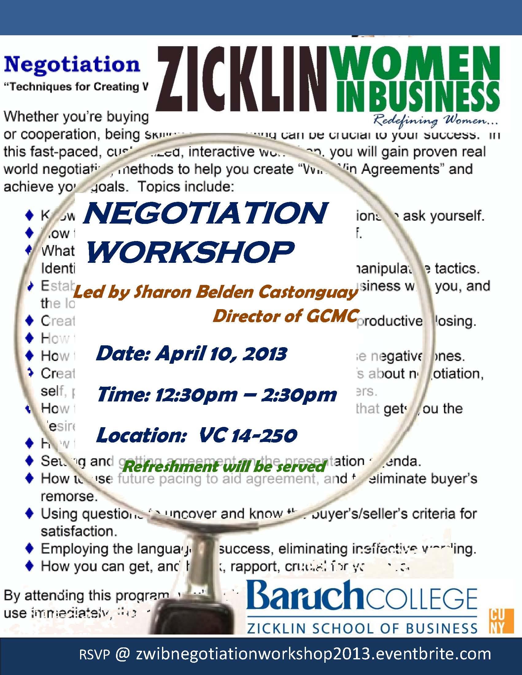 Negotiation Workshop