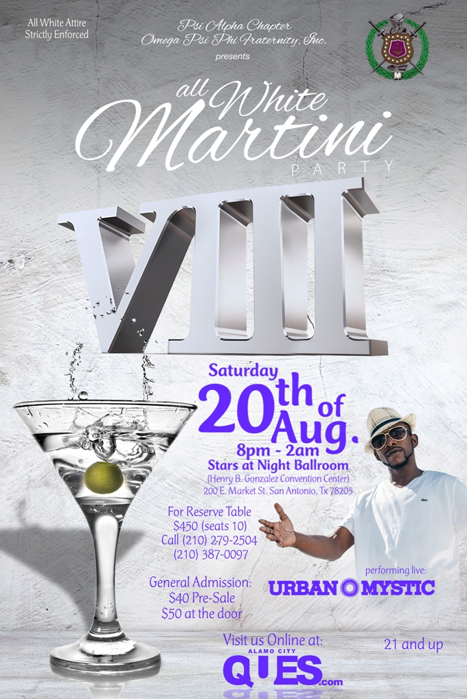 8th Annual White Martini Party Tickets Sat Aug 20 2016