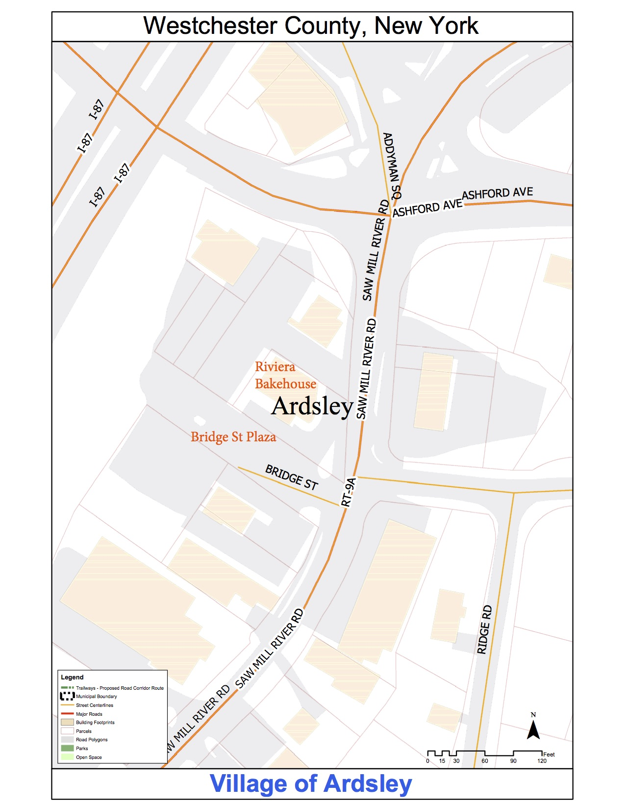 Map Image of Bridge Street Site in Ardsley