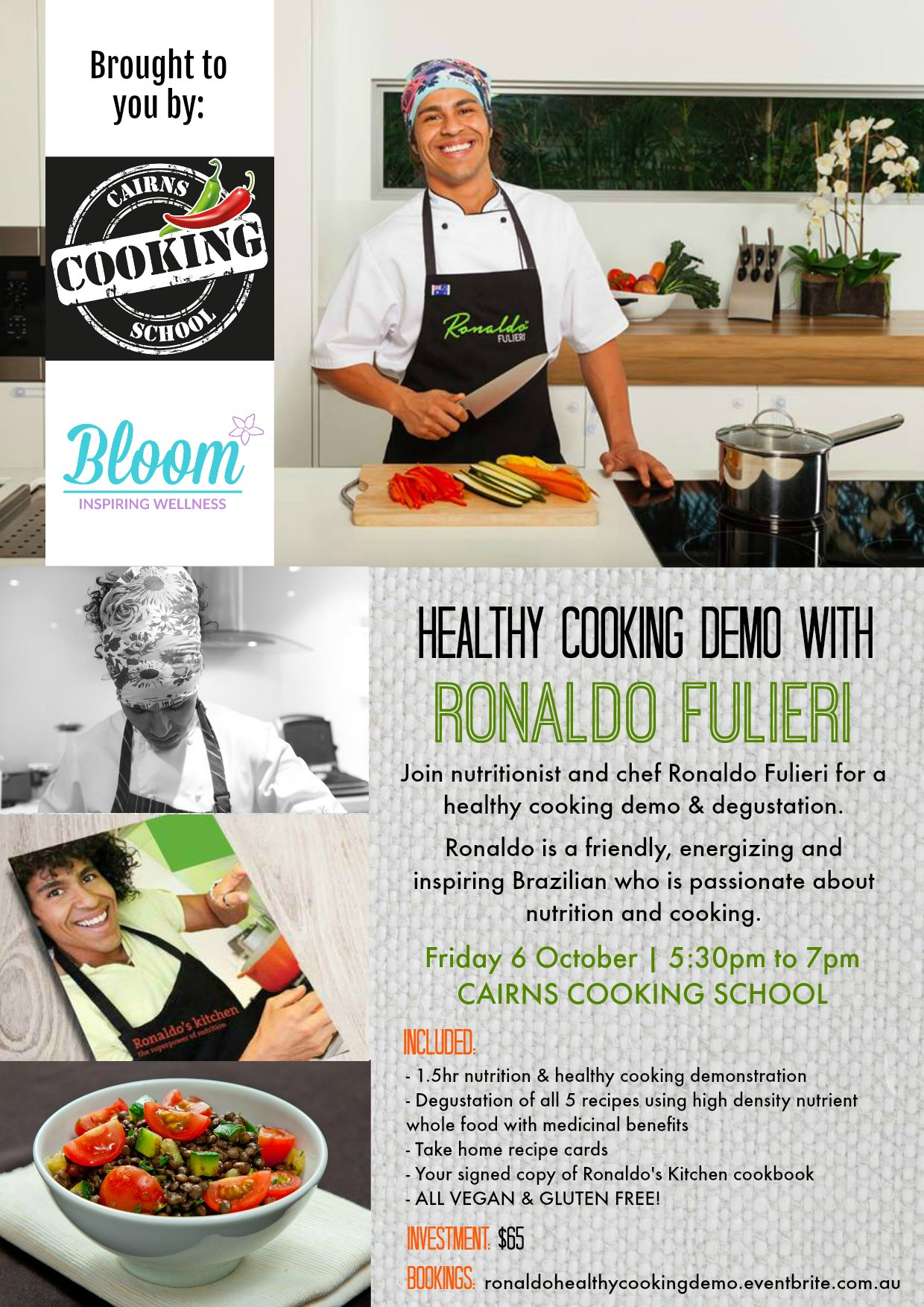 Healthy Cooking Demonstration with Ronaldo Fulieri (Cairns ... Healthy Cooking Demonstration