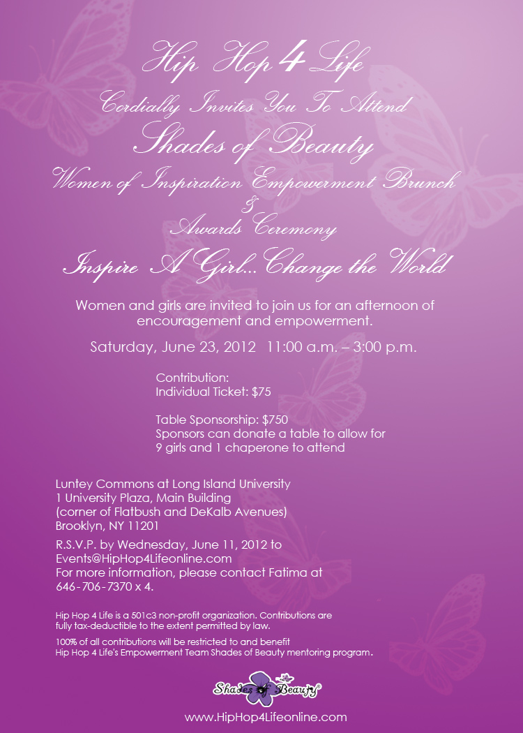Shades of Beauty Women of Inspiration Brunch & Awards Ceremony
