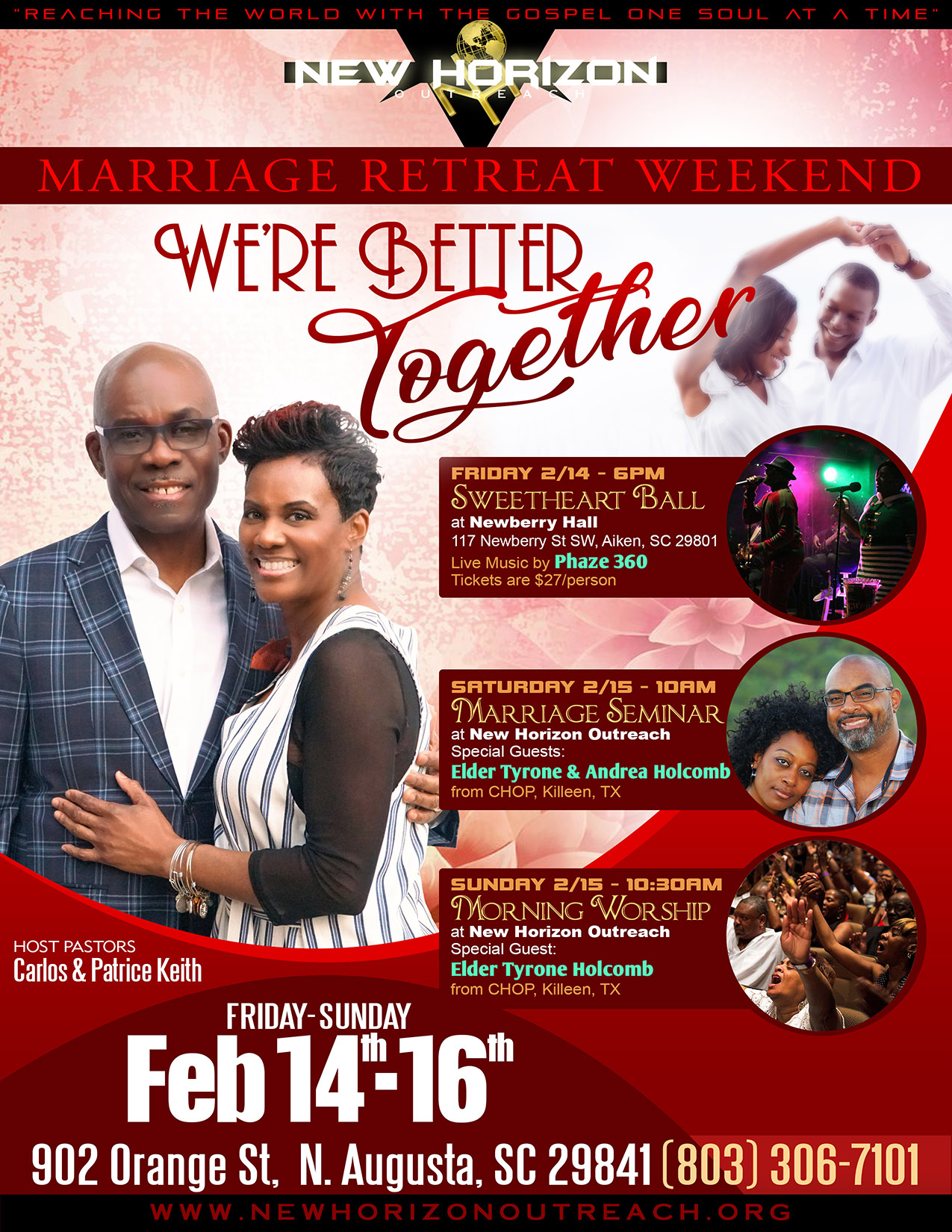 NEW HORIZON OUTREACH MINISTRY MARRIAGE RETREAT