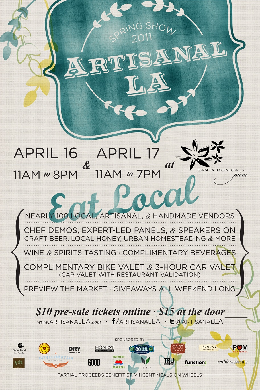 Join Us at Artisanal LA's Spring Show
