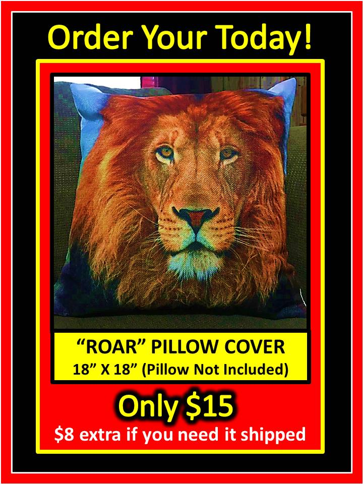 ROAR PILLOW COVER