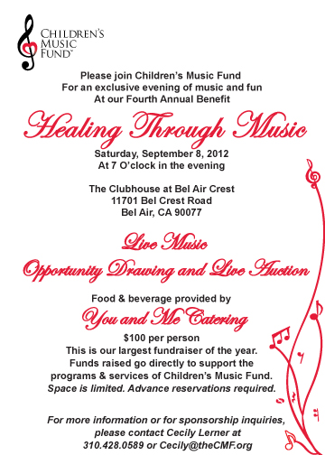 Healing Through Music Invitation