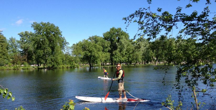 Stand Up Paddleboarding at Pettibone Lagoon