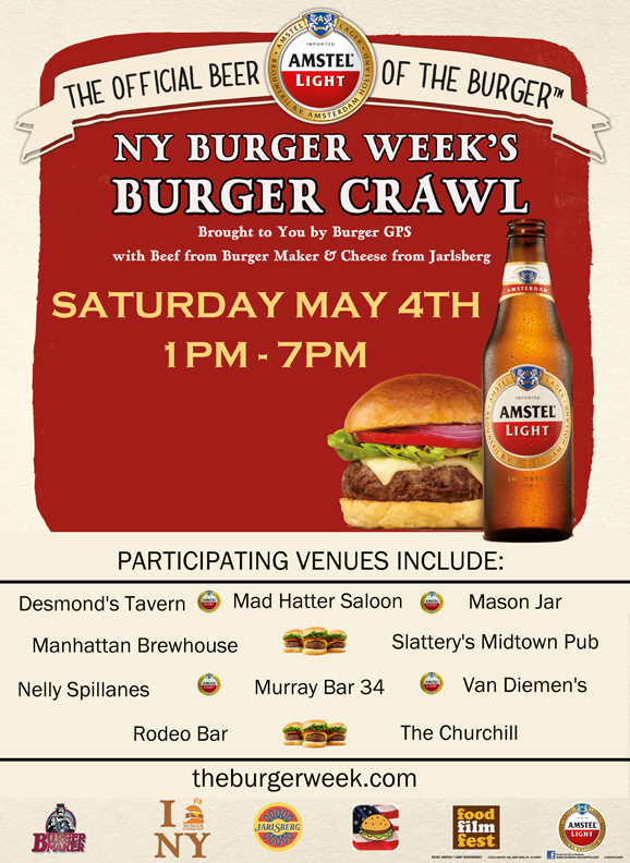 NY Burger Week Burger Crawl with Amstel Light
